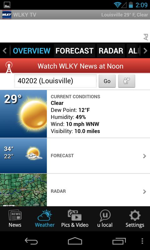 WLKY  Louisville News, Weather - screenshot