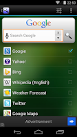 Screenshot of Quick Search Widget (free)