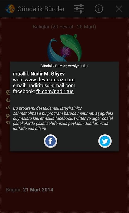 Gündəlik Bürclər - screenshot