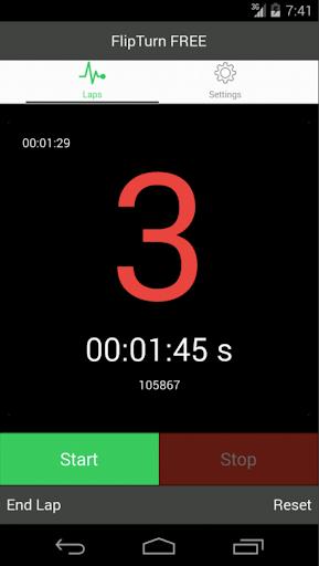 FlipTurn Lap Timer Stopwatch