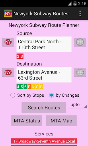 Newyork Subway Route Planner