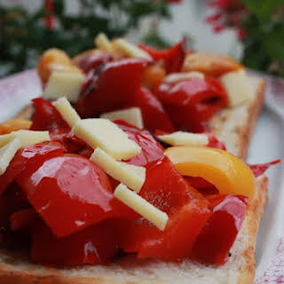 Sweet Pepper Toasts.