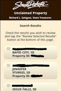 SD Unclaimed Property Search- screenshot thumbnail