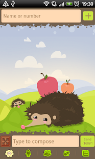 GO SMS Pro Hedgehog Theme- screenshot thumbnail