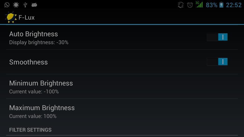 Screen Brightness Control- screenshot
