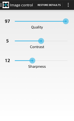XCam LG Settings - screenshot