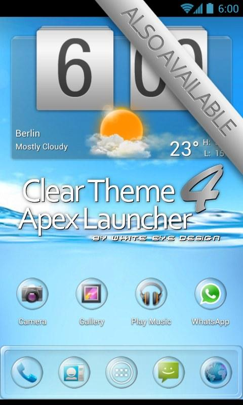 Clear SQ Theme 4 Apex/Nova- screenshot