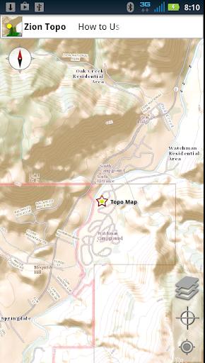 Zion National Park Topo