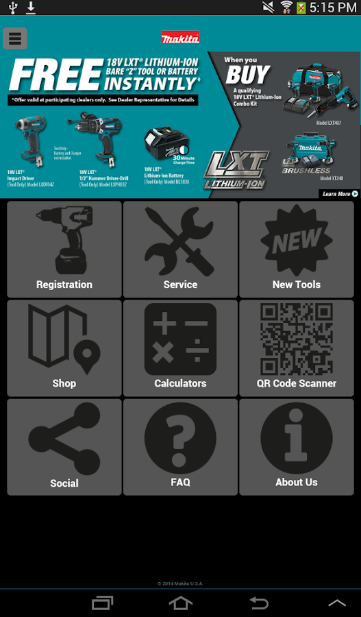 Makita Mobile- screenshot