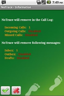 NoTrace Free - screenshot thumbnail