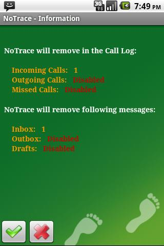 NoTrace Free - screenshot