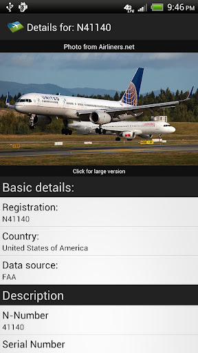 Tail Number Lookup