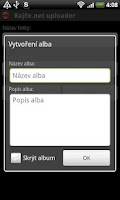 Screenshot of Rajče.net uploader