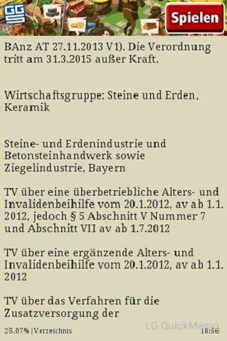 Tarifverzeichnis 2014
