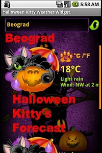 Halloween Weather Widget screenshot 0