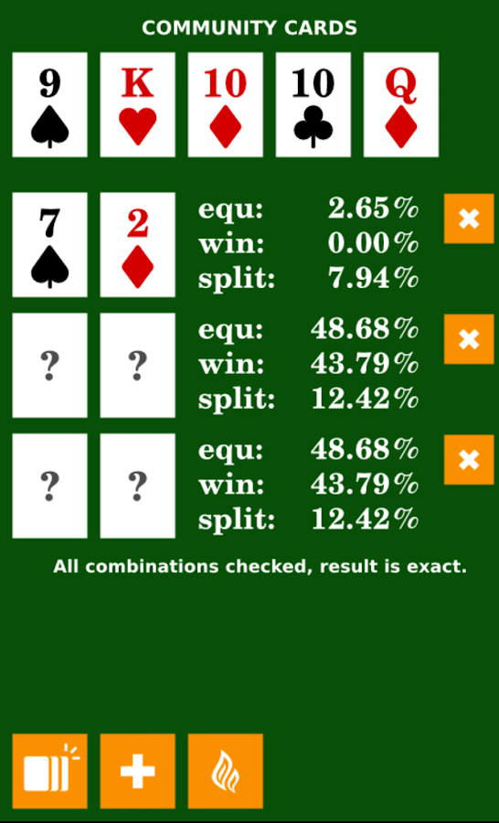 calculating odds in texas holdem