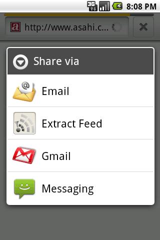Extract Feed- screenshot