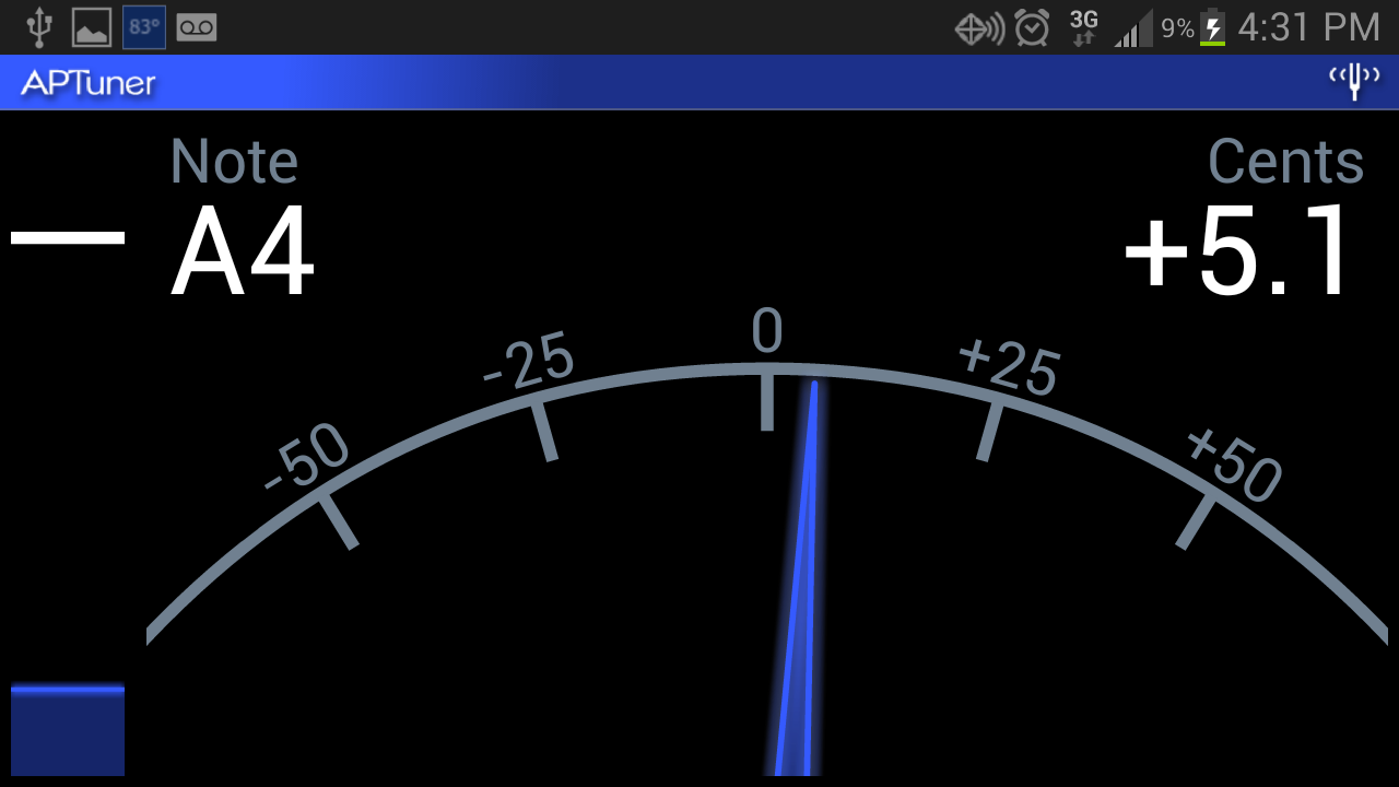 APTuner - Chromatic Tuner- screenshot