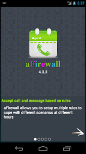 aFirewall call and sms blocker - náhled