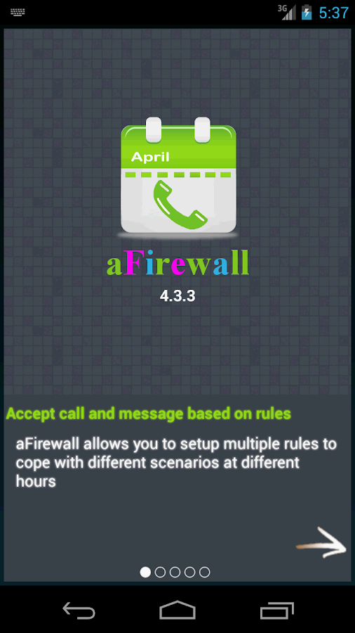 aFirewall call and sms blocker- screenshot