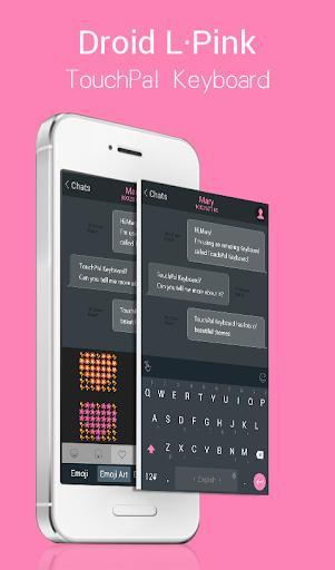 Droid L Pink Keyboard Theme