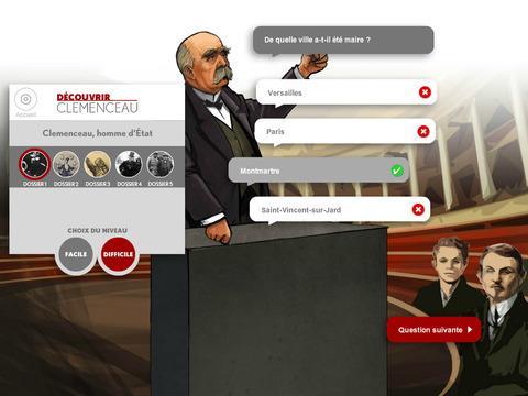 Du00e9couvrir Clemenceau, Le Quiz 1.0 screenshots 4