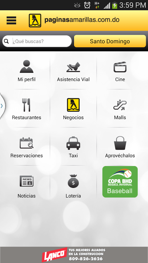 PaginasAmarillasRD Android - screenshot