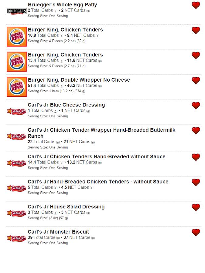 Low Carb Foods - screenshot