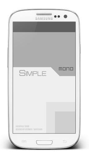 [카카오톡테마] SimpleMoNo