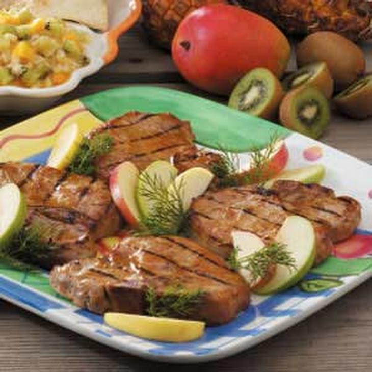 Dijon Grilled Pork Chops Recipe