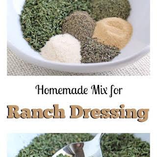 Homemade Ranch Dressing Seasoning Mix.