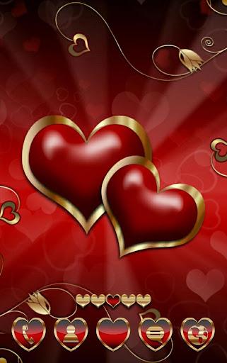 Hearts Love Go Launcher Theme