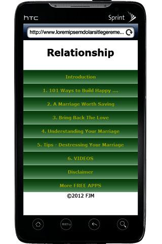 Marriage Relationship - screenshot