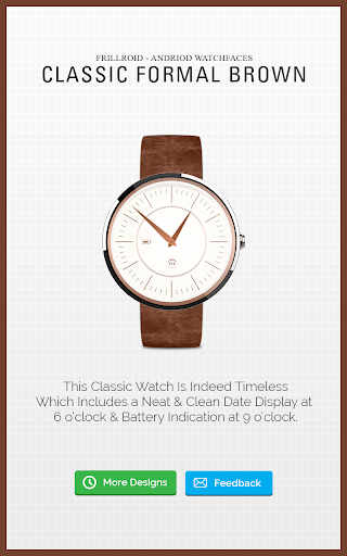 Brown Watch Face for Moto 360