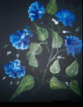 Stroke Painting-Blue Beauty