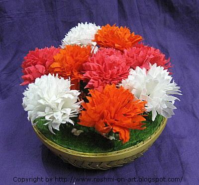 Duplex paper flowers carnation flower calligraphy art duplex flowers carnation flowers mightylinksfo
