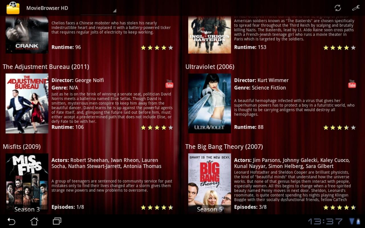 MovieBrowser HD - screenshot