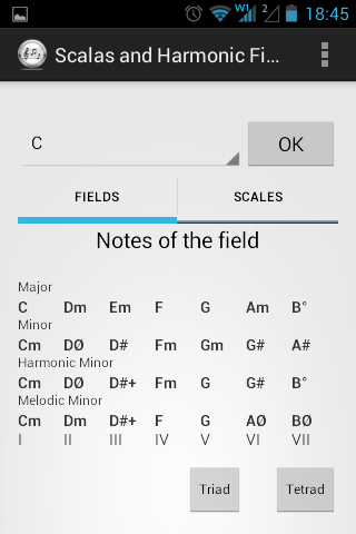 Scales and Harmonic Field