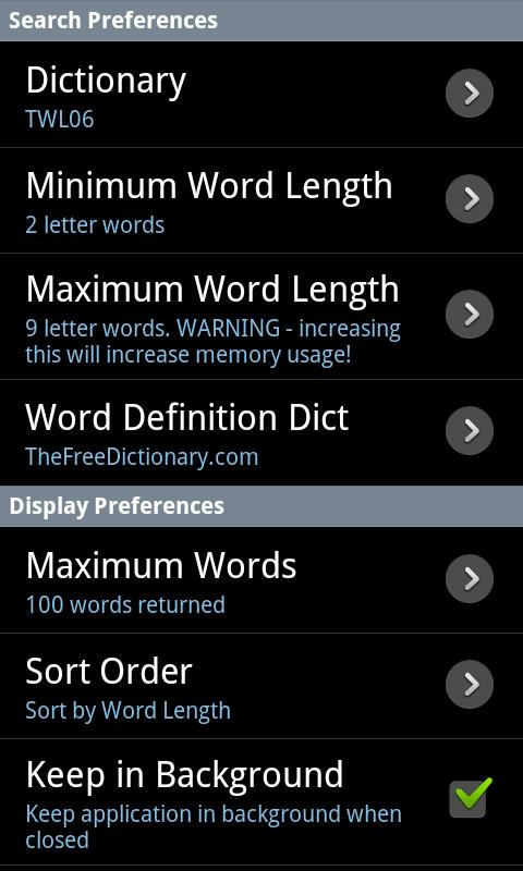 Word Solver Lite - screenshot