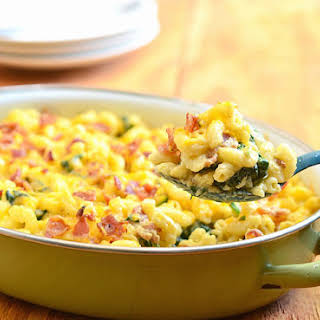 Spinach-Bacon Macaroni and Cheese.