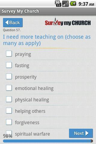 【免費生活App】Survey My Church Free-APP點子