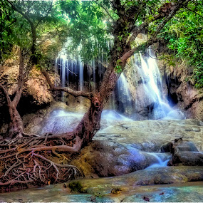 romantic waterfall by Adang Yusuf - Landscapes Forests