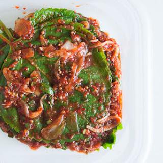 Kkaennip (Perilla) Kimchi