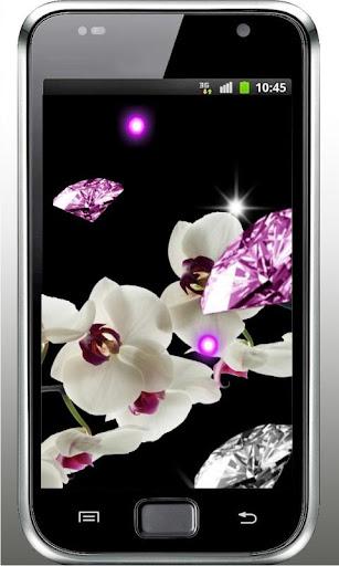 Orchid Diamonds live wallpaper