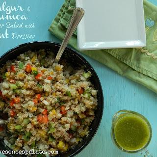 Bulgur & Quinoa Salad with Mint Dressing