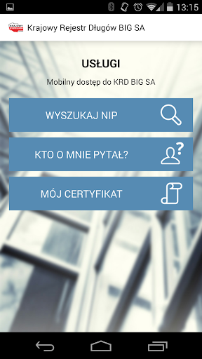 Aplikacja mobilna KRD BIG SA