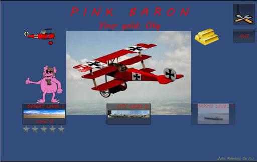 Pink Baron Pig fly Fokker