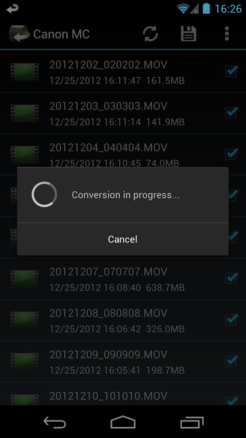 Canon Movie Converter - screenshot