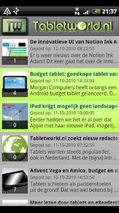 Tabletworld Reader Screenshot 1