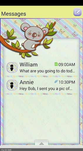 ButterflyKoala GO SMS THEME